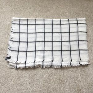 Express Black and White Windowpane Scarf